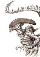 Alien - Xenomorph by Llythium-art
