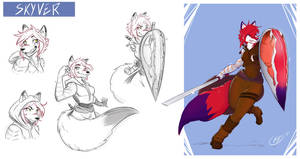 [COMMISSION SKETCH PAGE] Skyver by Llythium-art