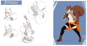 [COMMISSION SKETCH PAGE] Simone by Llythium-art