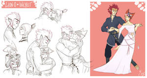 [COMMISSION SKETCH PAGE] Lion-O x Wilykit