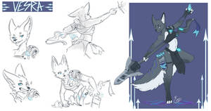 [COMMISSION SKETCH PAGE] Vesra - The Exiled