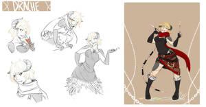 [COMMISSION SKETCH PAGE] Drache Ulrich by Llythium-art