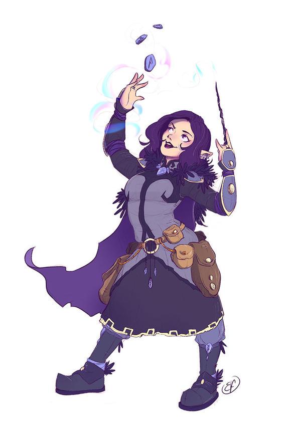 [COMMISSION Coloured sketch] Nissa by Llythium-art