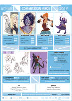 2019 - Commissions price list - Llythium by Llythium-art