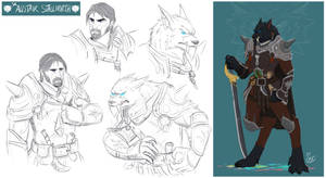 [COMMISSION SKETCH PAGE] Sir Alistair Stallnorth