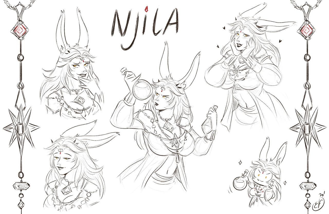 [COMMISSION Sketches] Njila