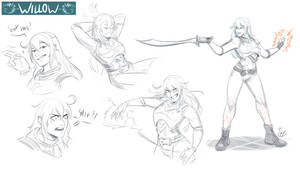 [COMMISSION SKETCH PAGE]Willow