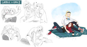 [COMMISSION SKETCH PAGE] Grace x Emily