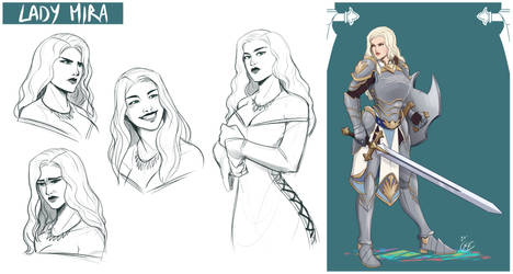 [COMMISSION SKETCH PAGE] Lady Mira
