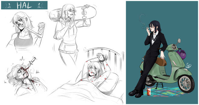 [COMMISSION SKETCH PAGE] Hal