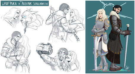 [COMMISSION SKETCHPAGE] Lady Mira x Lord Alistair
