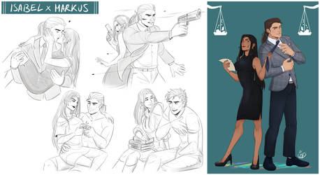[COMMISSION SKETCH PAGE SPECIAL] Isabel x Markus