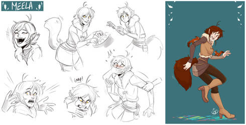 [COMMISSION SKETCH PAGE] Meela