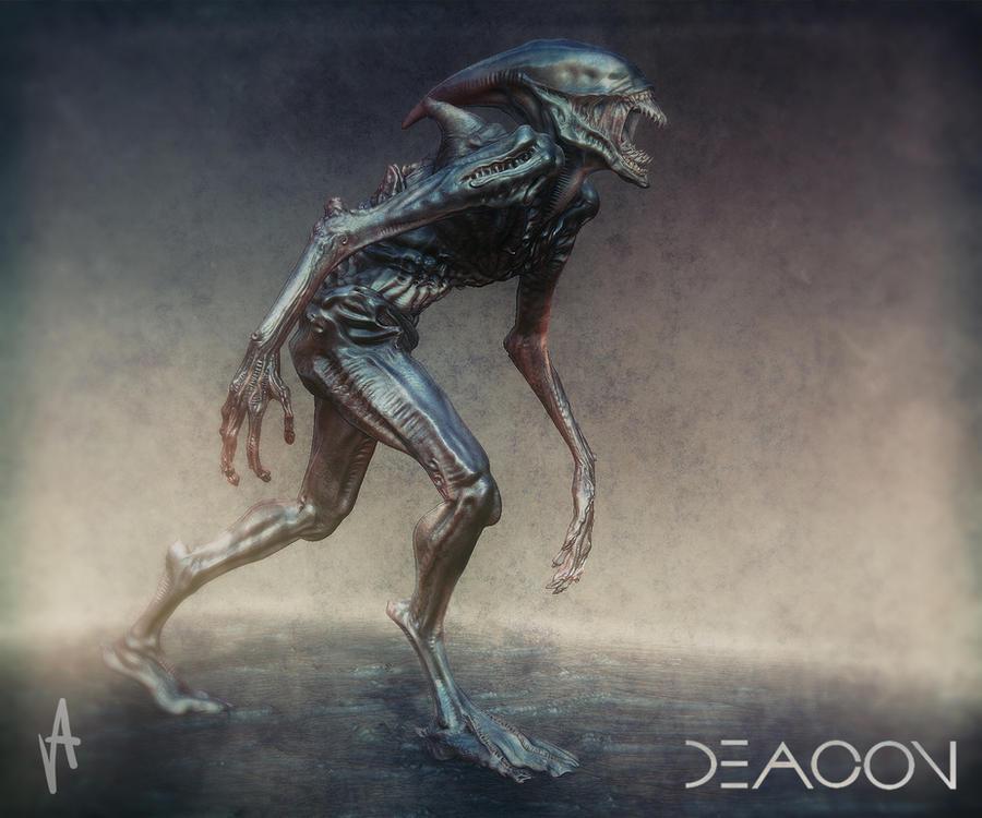 Xenomorph Deacon -Deacon- concept by aramv55