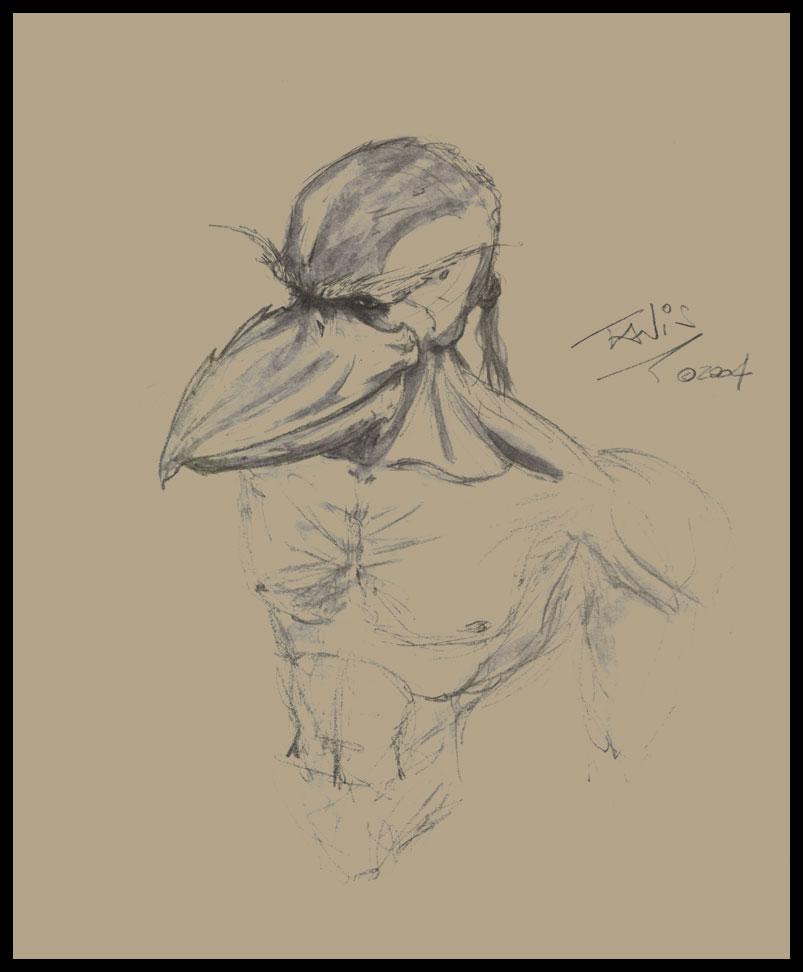 Bird man by tanis