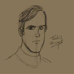 male head sketch