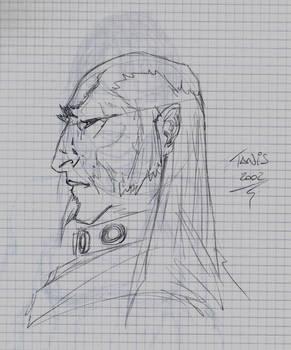 Old Man Face Pencils