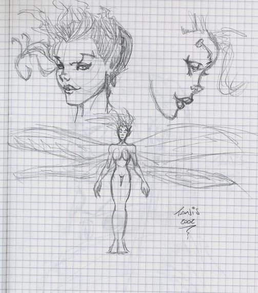Fairy concept sketches