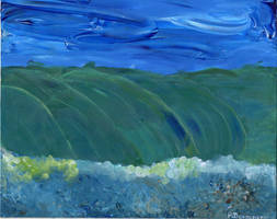 Wave Finger Painting
