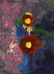 Hollyhocks: floral series 1