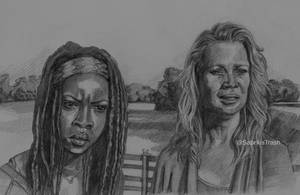 Michonne e Andrea of The Walking Dead