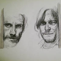 WIP of Rick and Daryl
