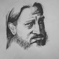 Sketch of Fenriz of Darkthrone