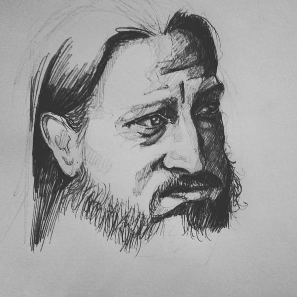 Sketch of Fenriz of Darkthrone by Sabriiistrash