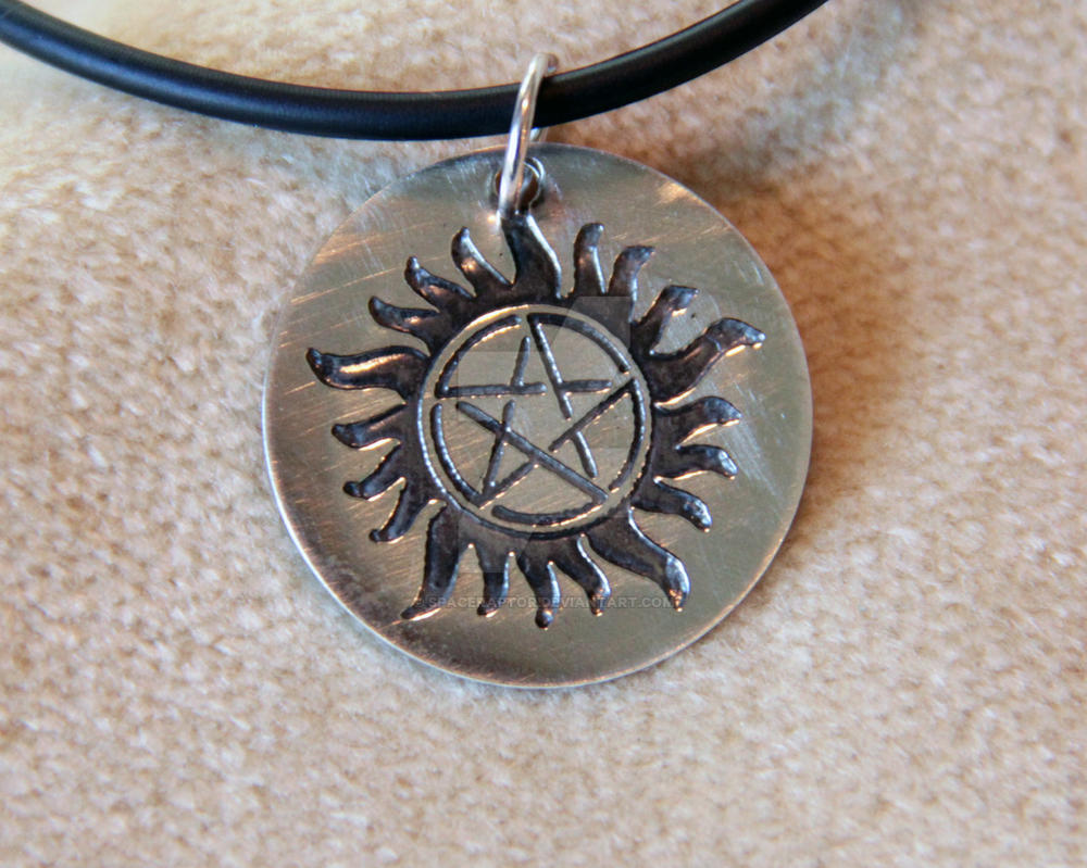 supernatural anti possession pendant silver by spaceraptor