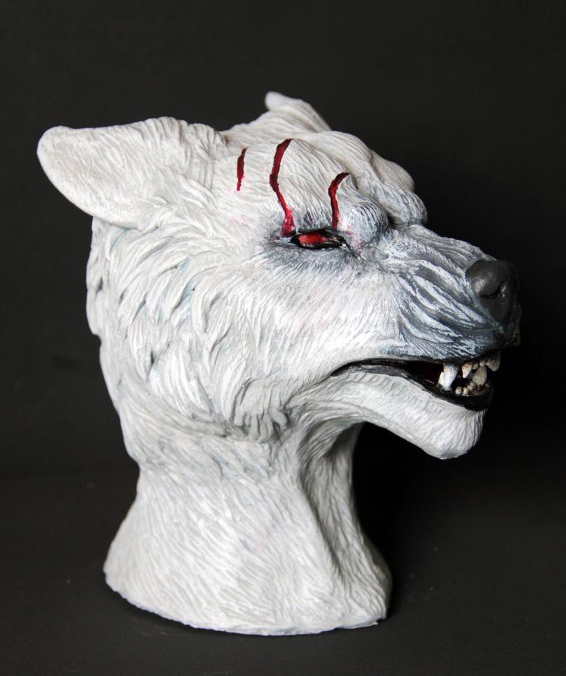 White Werewolf Bust 4 by spaceraptor