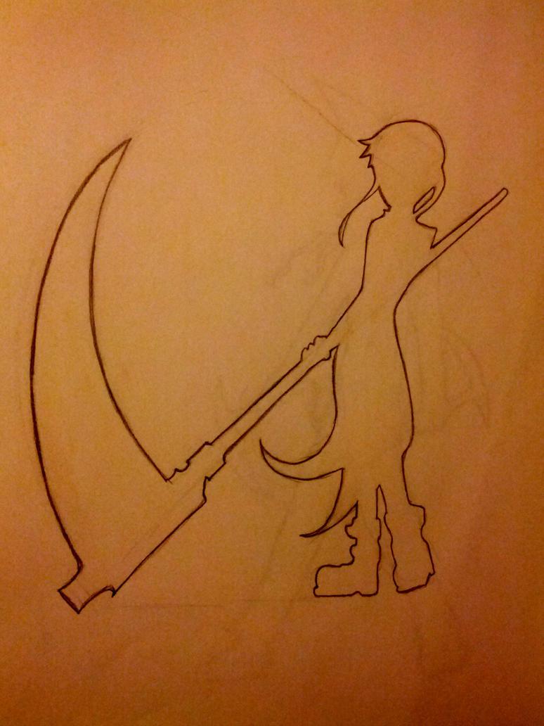 Maka Albarn (Soul Eater) Outline Sketch by Vembra-Isles