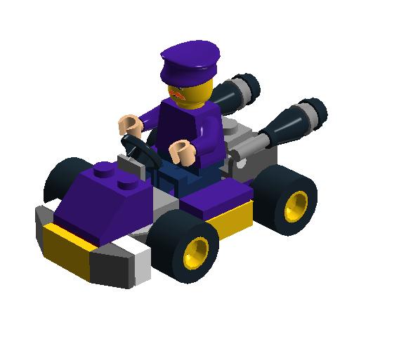 MK7 Waluigi Lego by FluffyFerret97Why Isnt Waluigi In Mario Kart 7