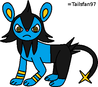 New Paint Luxio by FluffyFerret97