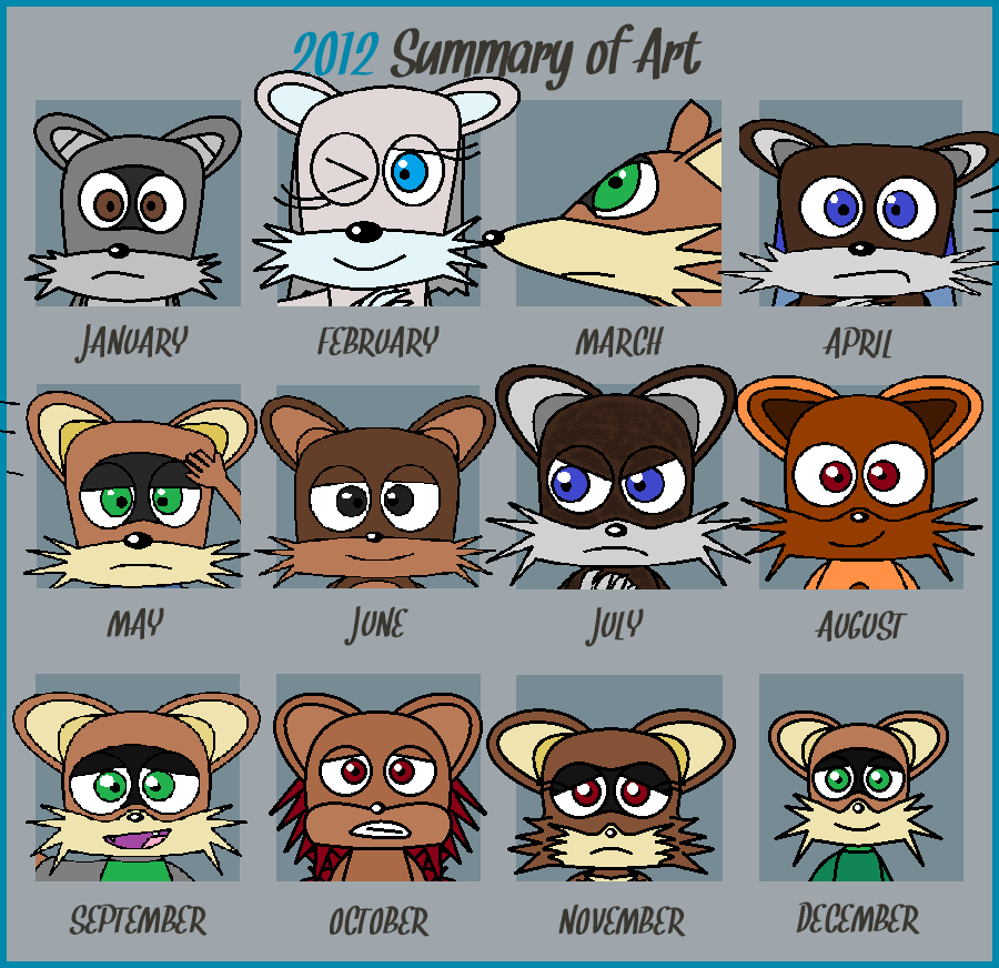 My 2012 art summary by FluffyFerret97