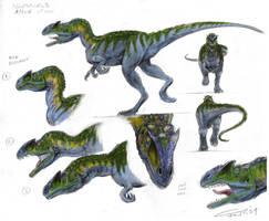 Allosaurus by Zainy7