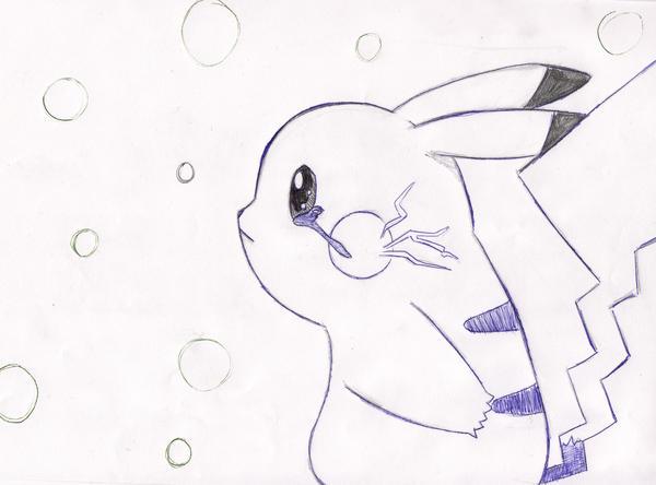 Pikachu crying drawing - photo#4