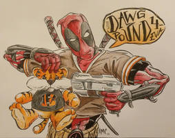 Deadpool Cleveland Browns Fan by alexmclark