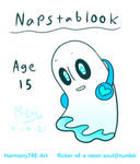 Napstablook - Era 1 by HarmonyTRE