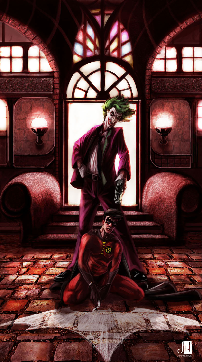 Joker vs robin by rangverse