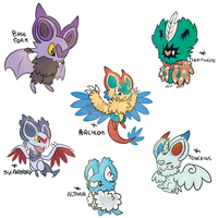 Noibat variations by TamyMew