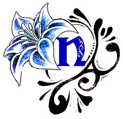 fancy letter n designs images free