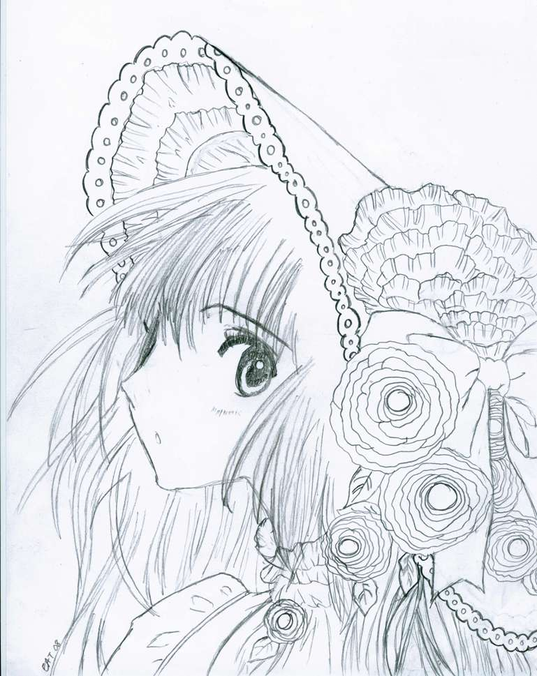 Kobato Hanato sketch by azmariaceleste