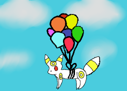 Umbreon Flying c: by Barf-The-Dog