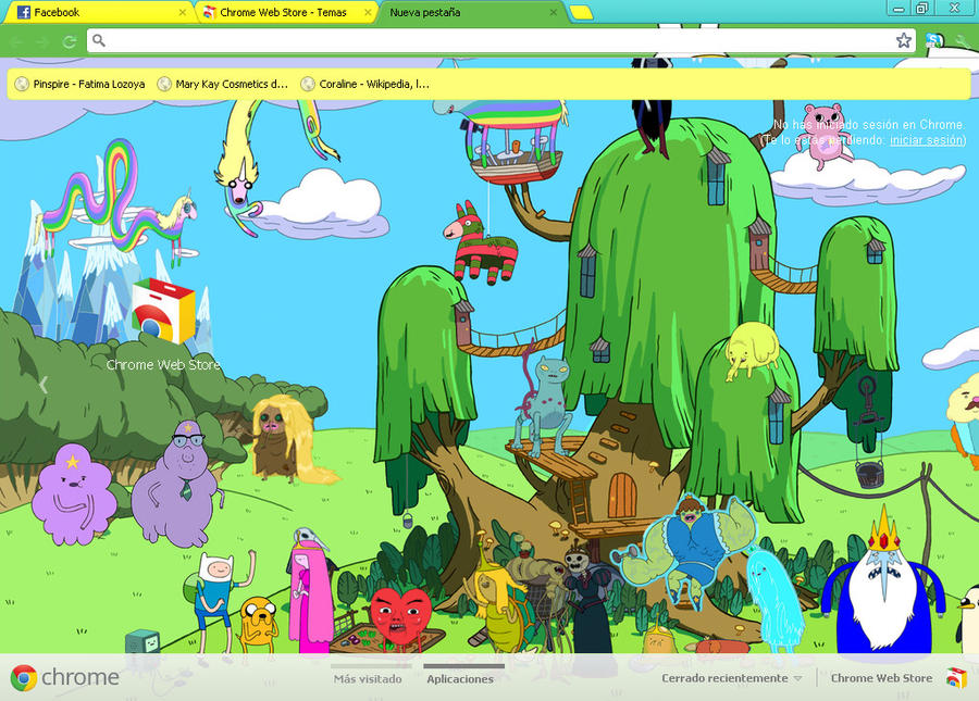 adventure time google skins - photo #7