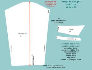 Vampire Knight Uniform Pattern Shirt 2