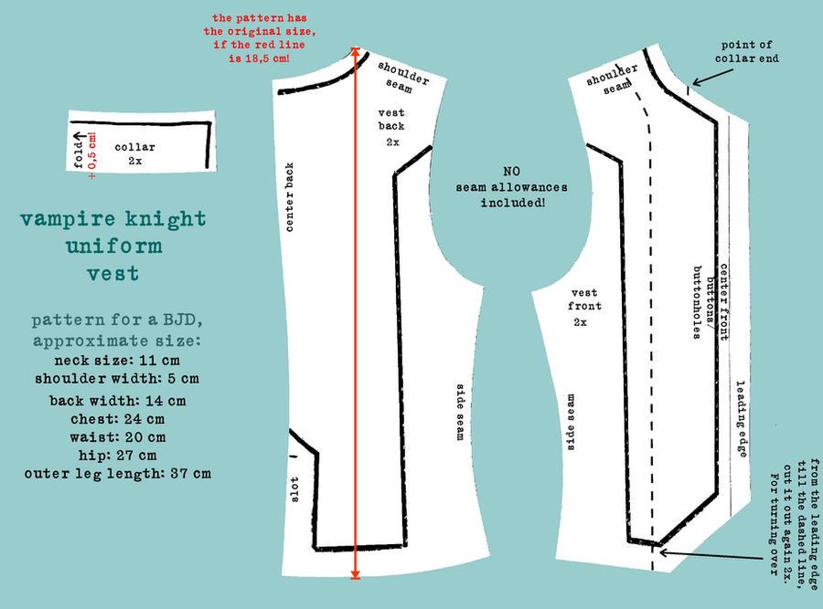 Vampire Knight Uniform Pattern Vest by DemonViridian on DeviantArt