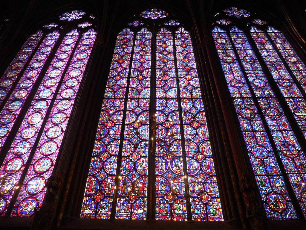 The Stained Glass Windows Of Ste Chapelle By Mit19237