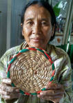 Cambodian Woman Weaver by mit19237