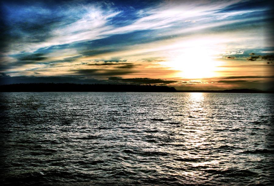 Harbor Sunset by SongOfAwakening
