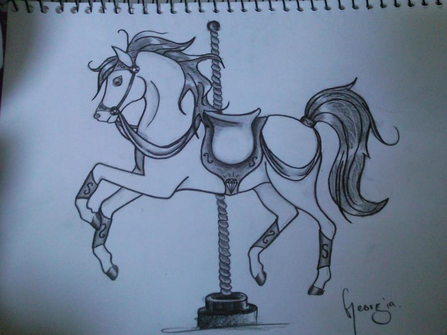 carousel horse by orgygeorgy on deviantart. Black Bedroom Furniture Sets. Home Design Ideas